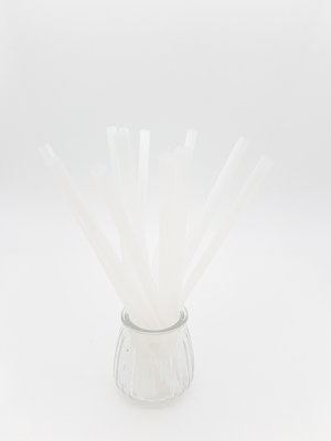 Bio Straws 8mm - Natural Unwrapped (Qty 100)