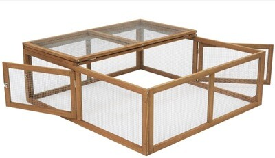 4ft X 4ft Guinea Pig Run With Triple Access
