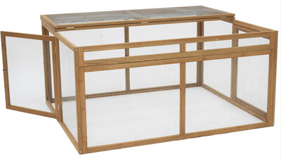 5ft X 4ft Guinea Pig Run With Triple Access