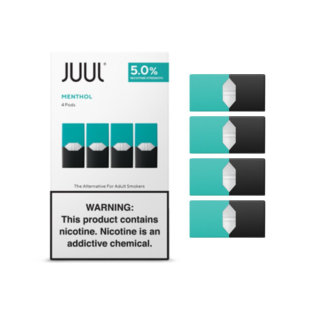 Juul Mint Replacement Pods - 50MG - بودات نعناع لجهاز سحبة السيجارة جول