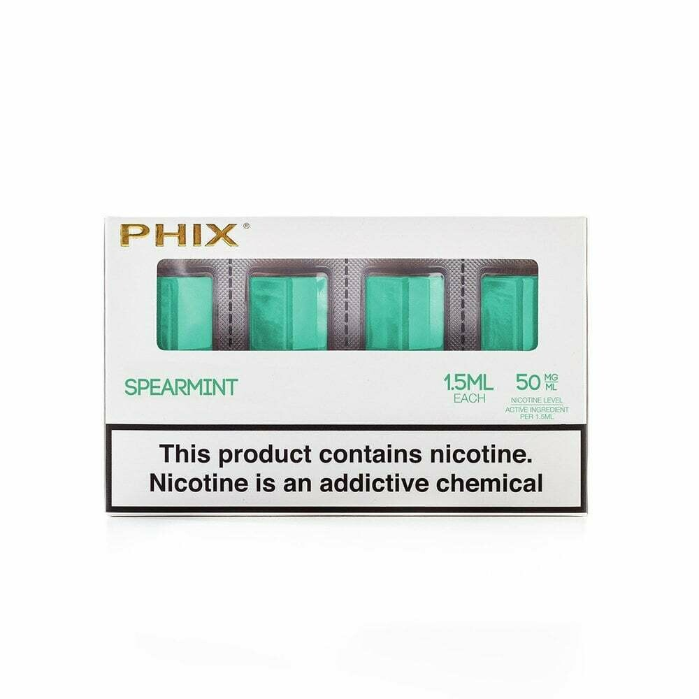 Phix Spearmint Replacement Pods - 50MG - بودات نعناع لجهاز سحبة السيجارة فيكس
