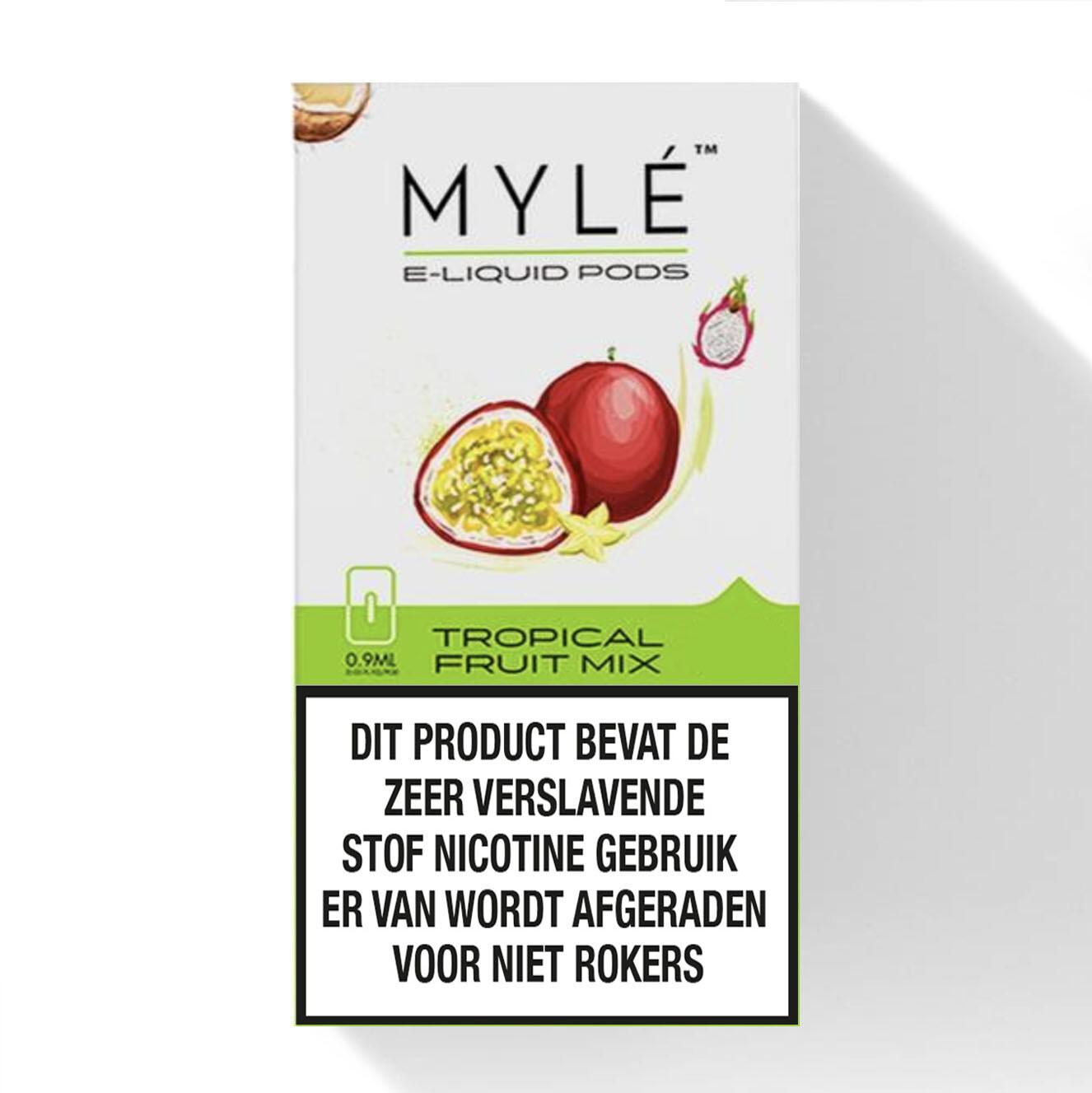 Myle Tropical Fruit Mix Replacement Pods - 50MG - بودات فواكه استوائية لجهاز سحبة السيجارة مايلي