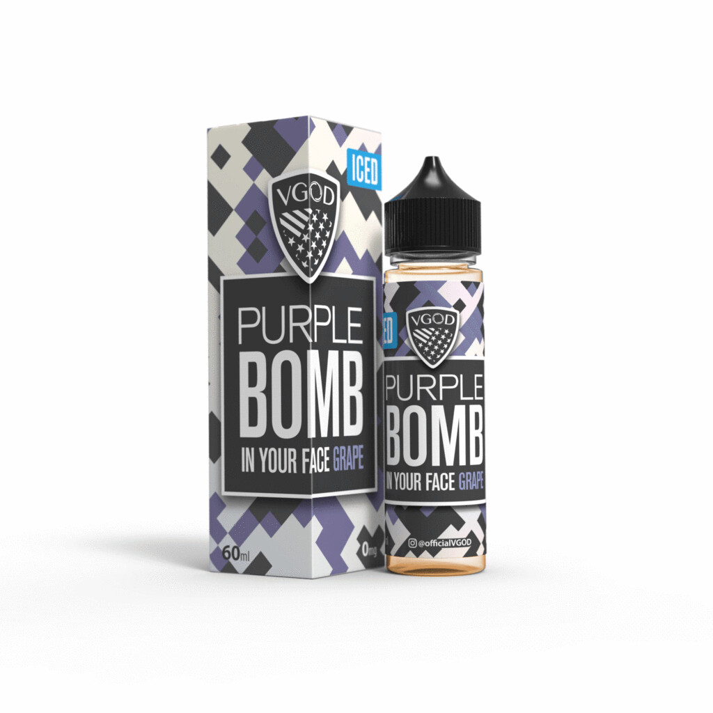 VGOD - Purple Bomb Iced في جاد بيربل بومب عنب بارد