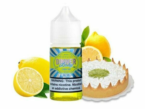 Dinner Lady Lemon Tart Salt Nicotine تارت الليمون من دينر ليدي نيكوتين ملحي