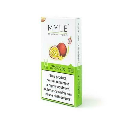 Myle Tropical Fruit Mix Replacement Pods - 20MG - بودات فواكه استوائية لجهاز سحبة السيجارة مايلي