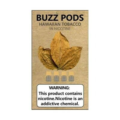 Buzz Hawaiian Tobacco Replacement Pods (Juul Compatible)- 50MG - بودات هاوايان توباكو من شركة باز متوافقة مع جهاز جول