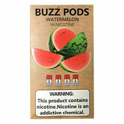 Buzz Watermelon Replacement Pods (Juul Compatible)- 50MG - بودات بطيخ من شركة باز متوافقة مع جهاز جول