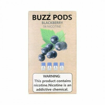 Buzz BlackBerry Replacement Pods (Juul Compatible)- 50MG - بودات بلاك بيري من شركة باز متوافقة مع جهاز جول
