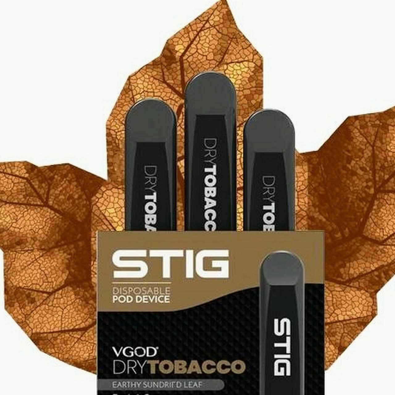 STIG Dry Tobacco 3-Pack Disposable Device - علبة 3 تبغ صافي من ستيج