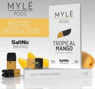 Myle Tropical Mango Replacement Pods - 50MG - بودات مانجو استوائية لجهاز سحبة السيجارة مايلي