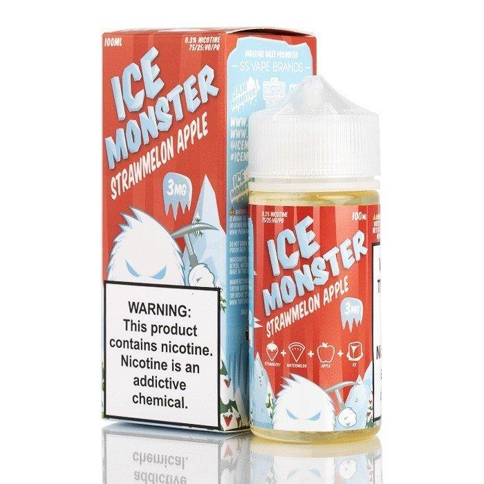 Ice Monsters - Strawmelon Apple آيس مونستر فراولة وبطيخ وتفاح بارد