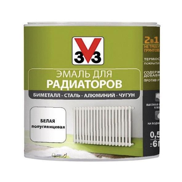 Эмаль для радиаторов V33 RENOVATION (Decolab) 0,5 л