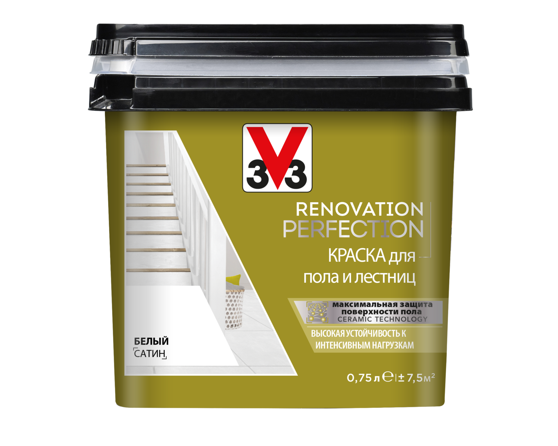 RENOVATION PERFECTION: Краска для пола и лестниц V33 (Decolab) 0,75 л