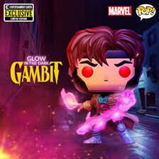 Pre Order X-Men Gambit Glow-in-the-Dark Pop! Vinyl Figure - Entertainment Earth Exclusive