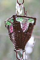 Rain chain - Basket & Glass Cups ™ copper  #RC-54