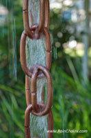 Rain chain - 'Extra Link' copper  #3132