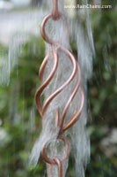 Rain chain - Twist Loops™ pure copper  #3181