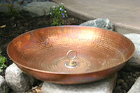 Hand Hammered Copper Dish with Attachment Loop #3145-A