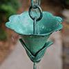 Rain Chain - Kanji Cups #1 with Patina 3126-1 Patina