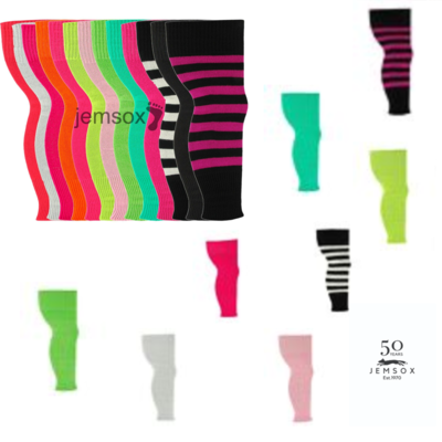 GIRLS TEEN 80'S DANCE LEGWARMERS UK Made Leg Warmer Plain/Glitter/Neon/Stripe FREE SHIPPING