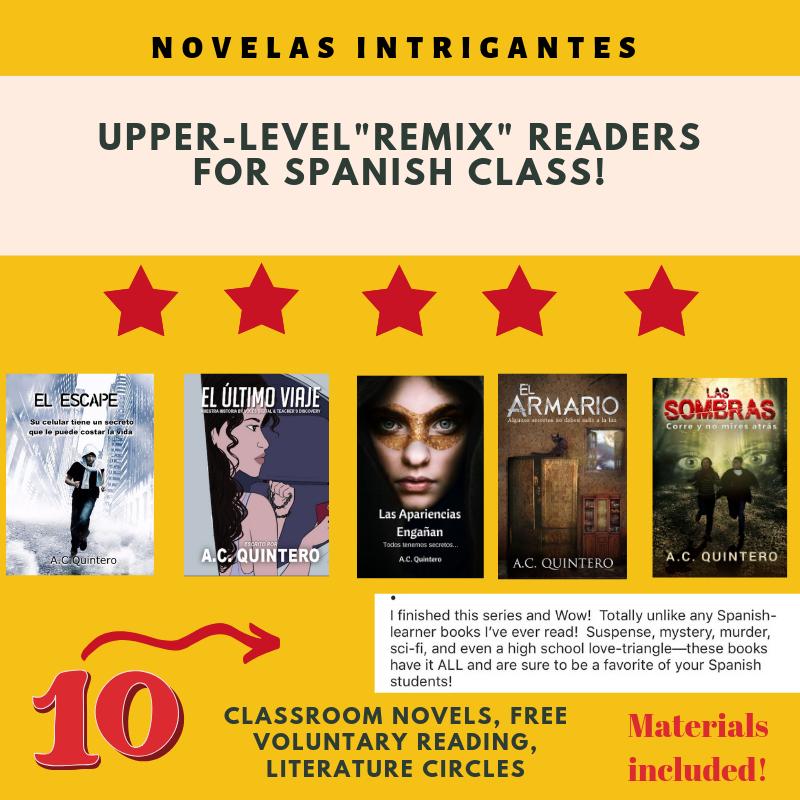 "FVR Upper-Level ""Literary Bundle"" (10 Novels+ Reading Activities)"