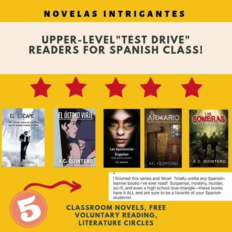 """FVR Upper-Level """"Test Drive"""" Reading Bundle (5 comprehensible-input novels)"""