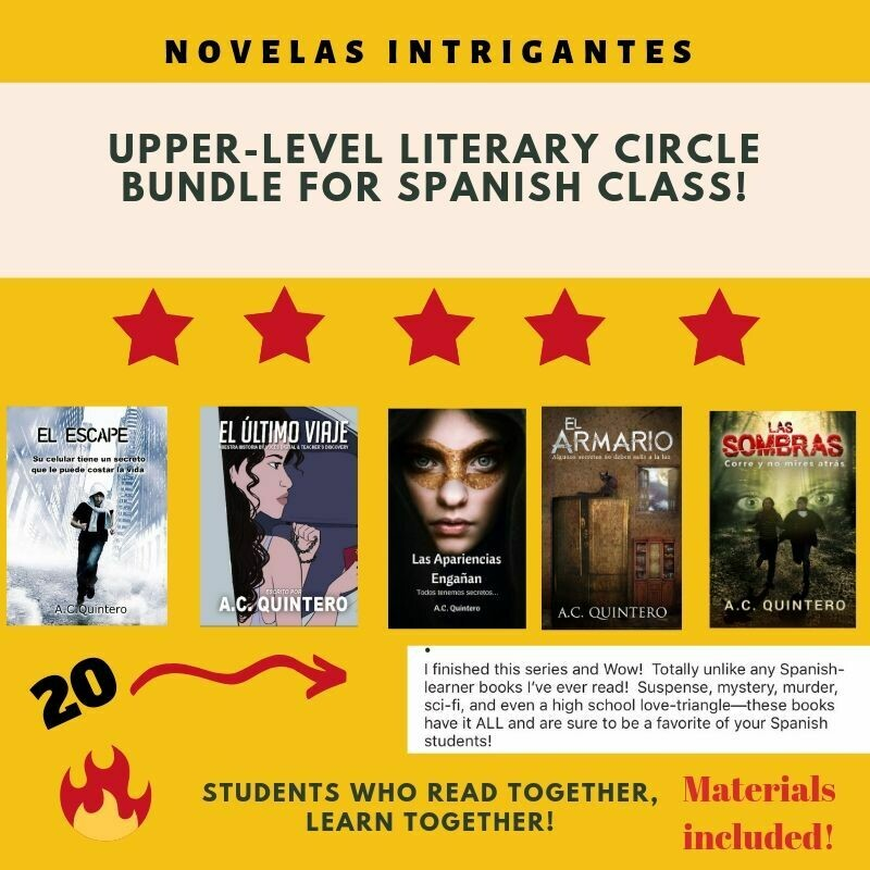 FVR Upper-Level Literary Circle Bundle (4 Novels Each Title) 20 Total+Teaching Materials-Free Shipping