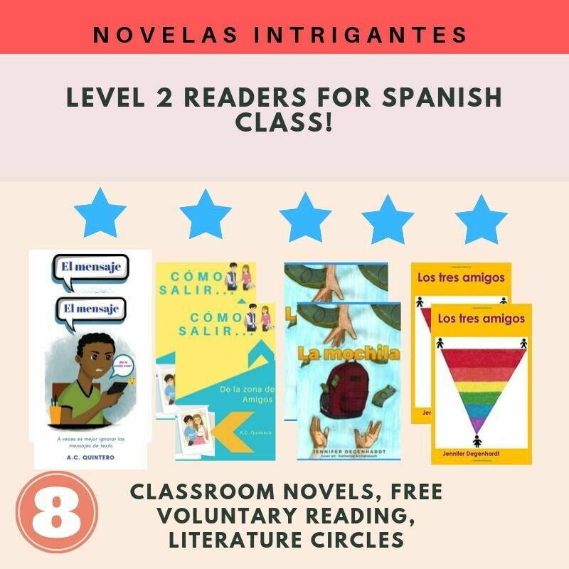 8 Novels Level 2 Spanish FVR Reading Bundle