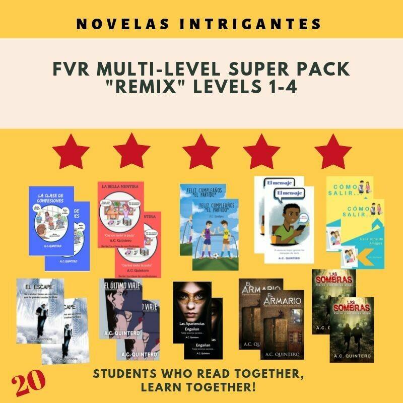"20 Novels: FVR Spanish Multi-level ""Remix"", Level 1-4+"