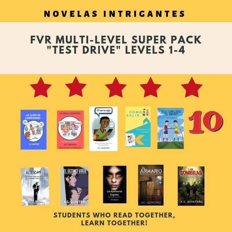 10 Novels: FVR Spanish Multi-level Sampler, Level 1-4+
