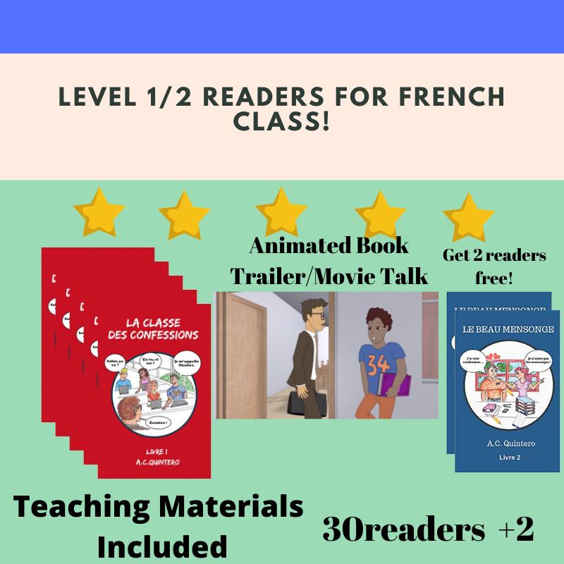 Sale! 30 Novels+ 2 Bonus Novels (Le beau mensonge). Teaching Material Included