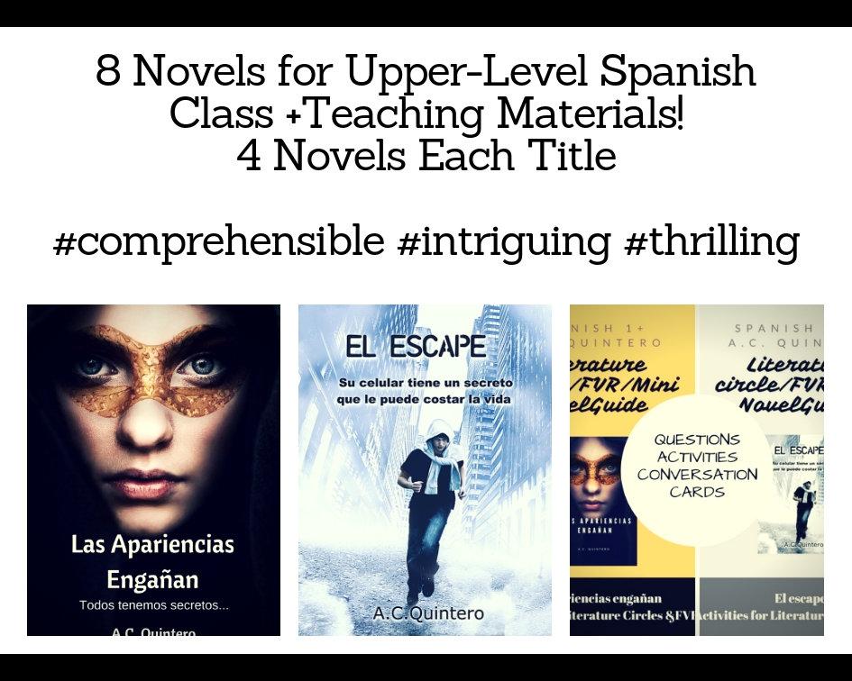 8 Novels-FVR Reading/Lit Circles Kit- Las apariencias engañan/El escape Level 3+