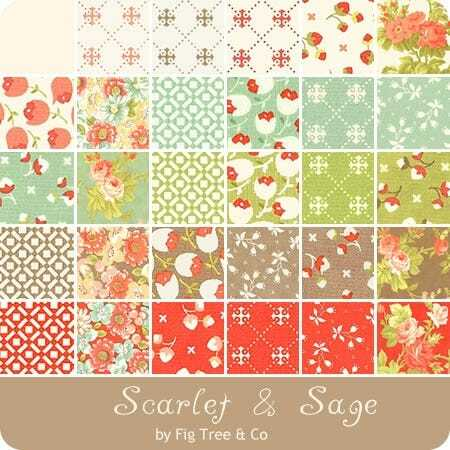 Scarlet & Sage Layer Cake - Fig Tree MMTSZD1B