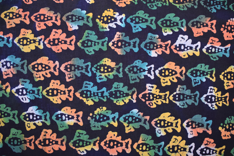 Small Colorful Fish Batik - 1/2m cut CAQF3JHF