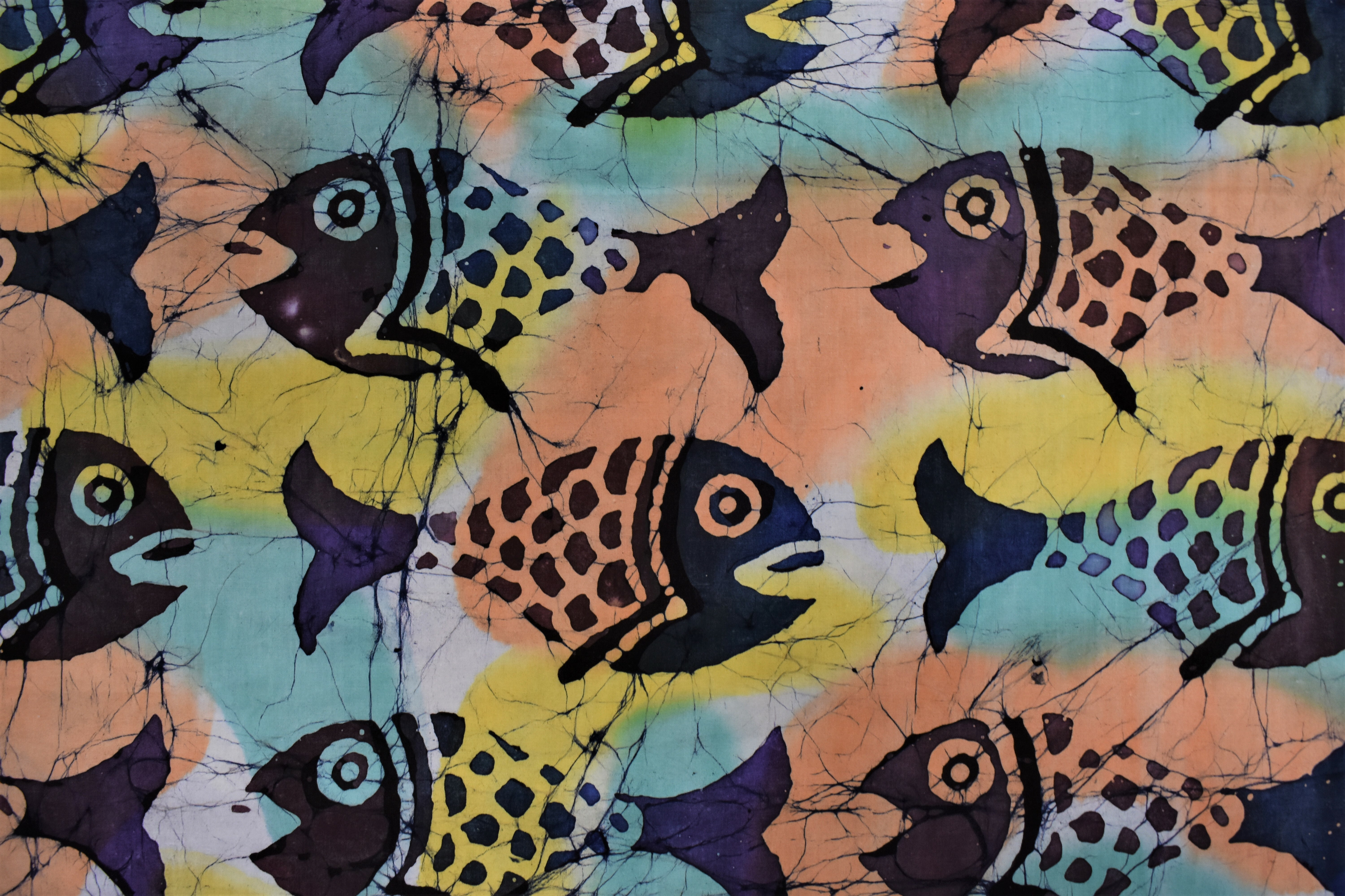 Large Colorful Fish Batik - 1/2m cut BGA533KW