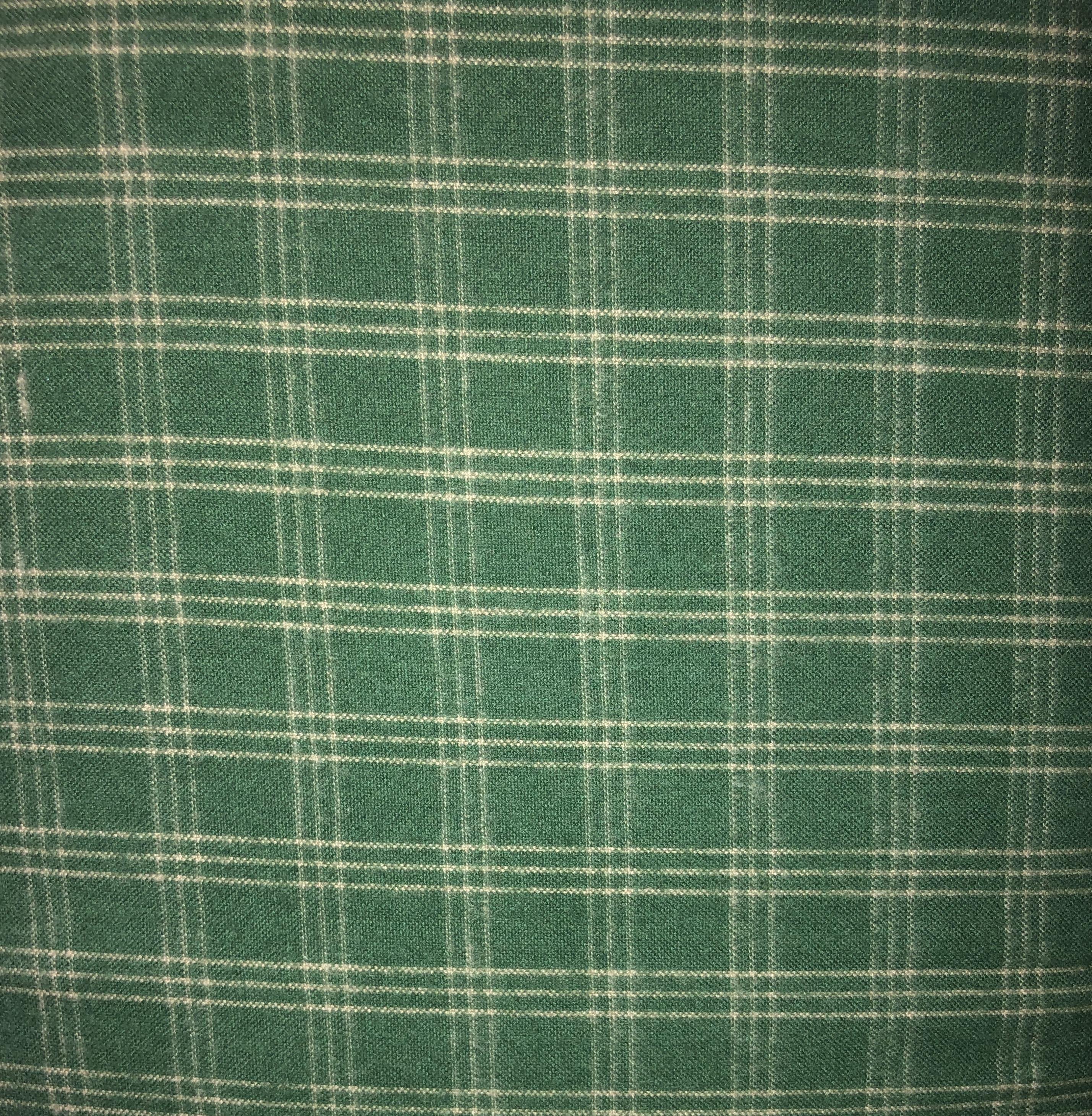 Yarn Dyed Flannel - Green Plaid - 1/2m cut 55167