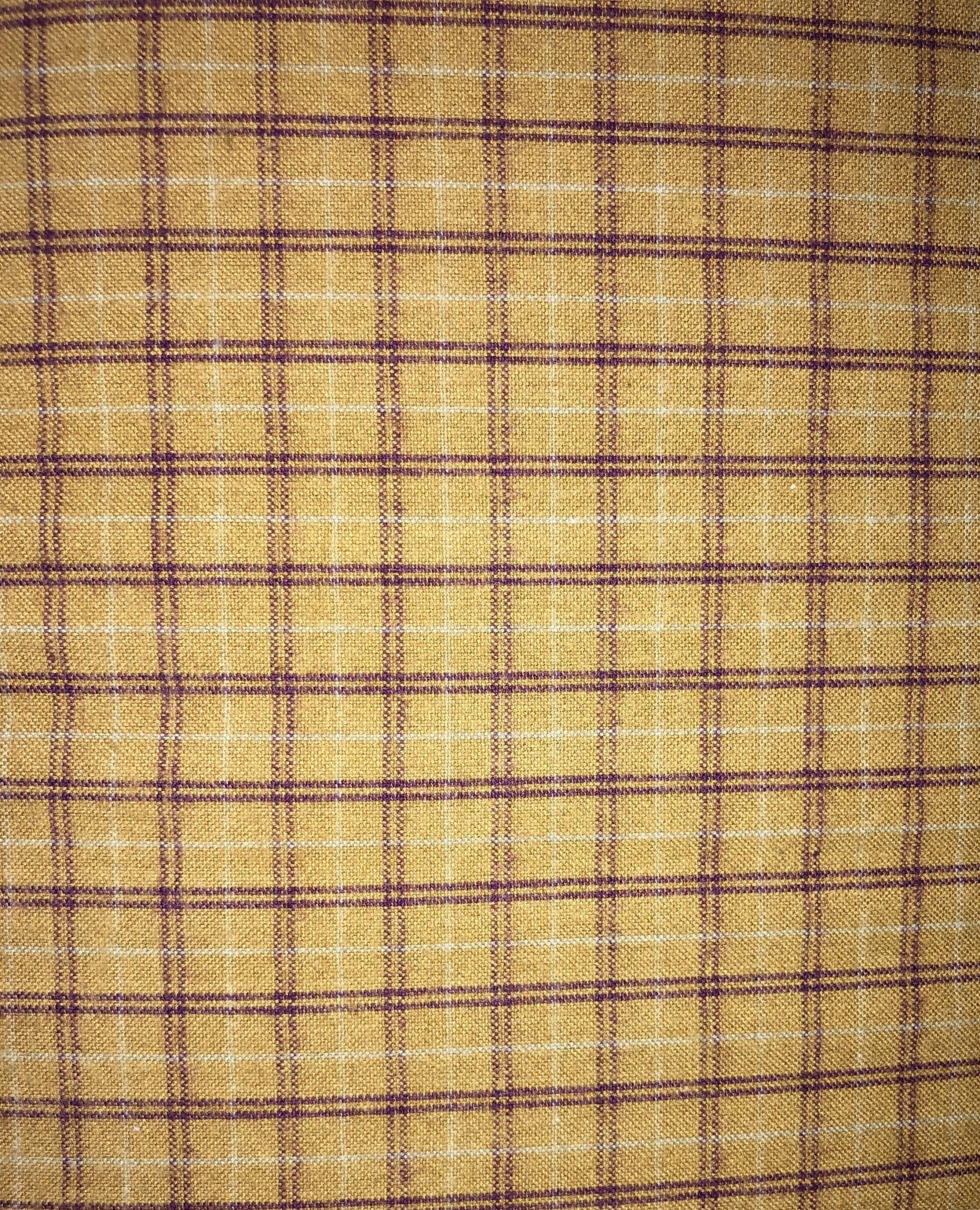 Yarn Dyed Flannel - Tan Plaid - 1/2m cut 55169