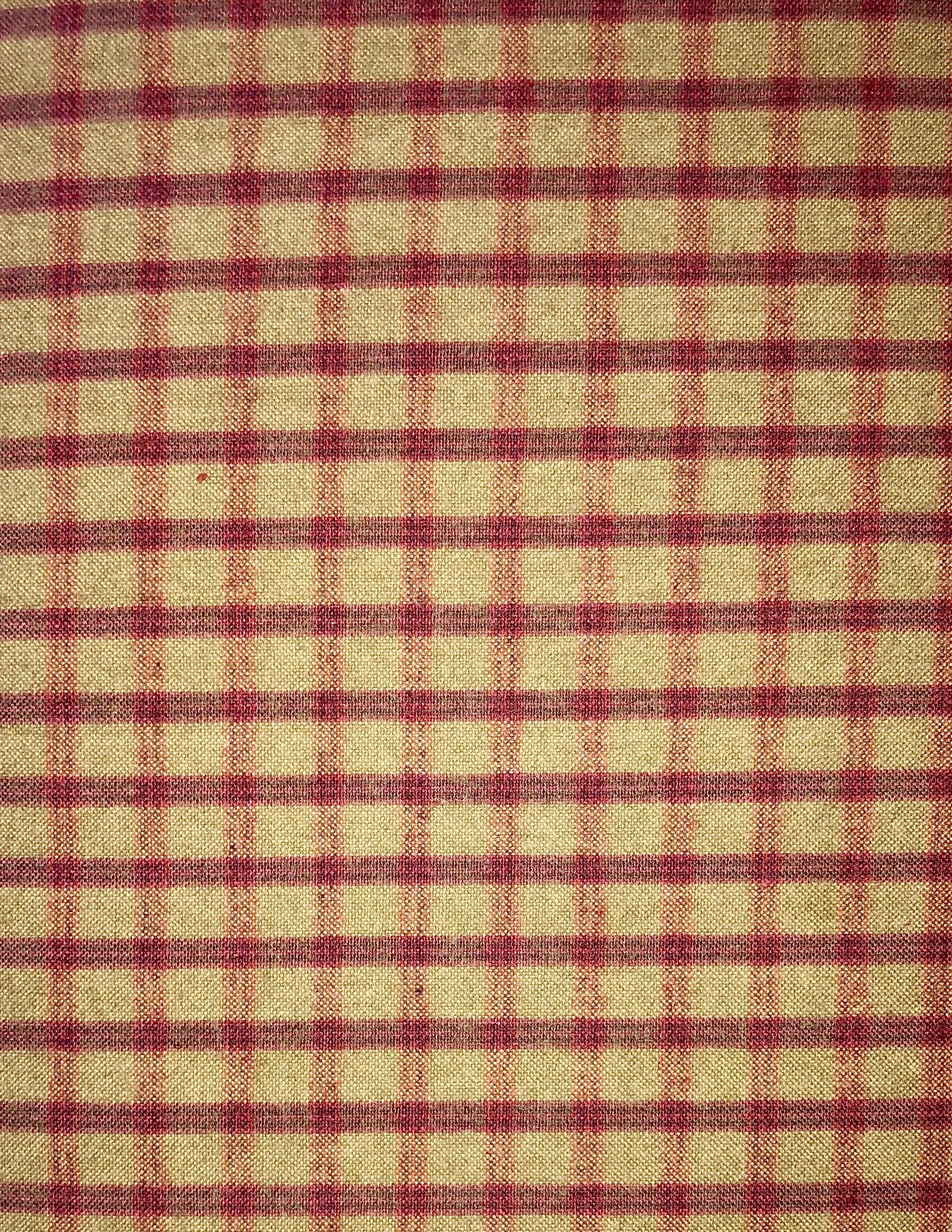 Yarn Dyed Flannel - Tan & Magenta Plaid - 1/2m cut 55170