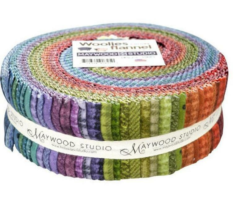 Woolies Flannel Jelly Roll  - Coloured 55207