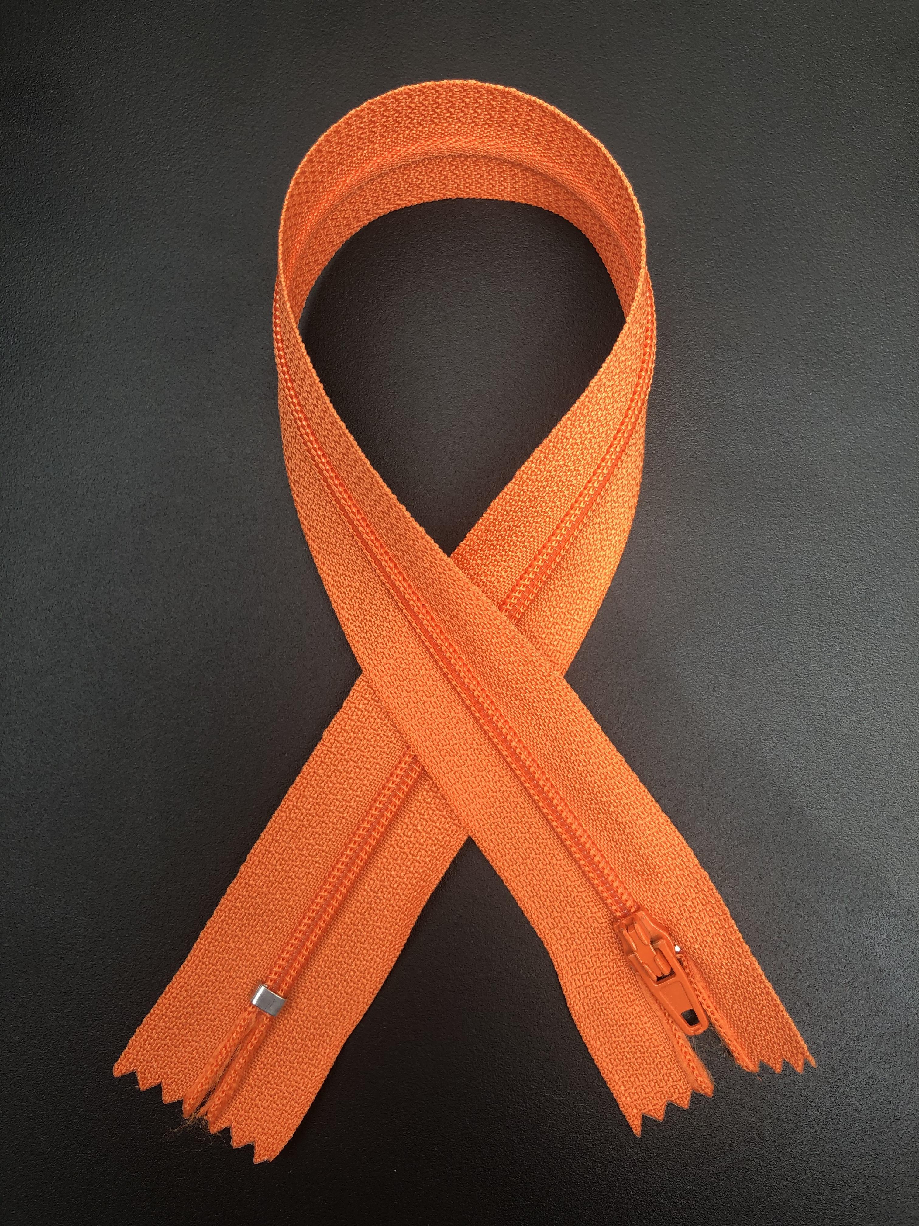"""14"""" Zipper - Orange 55286"""