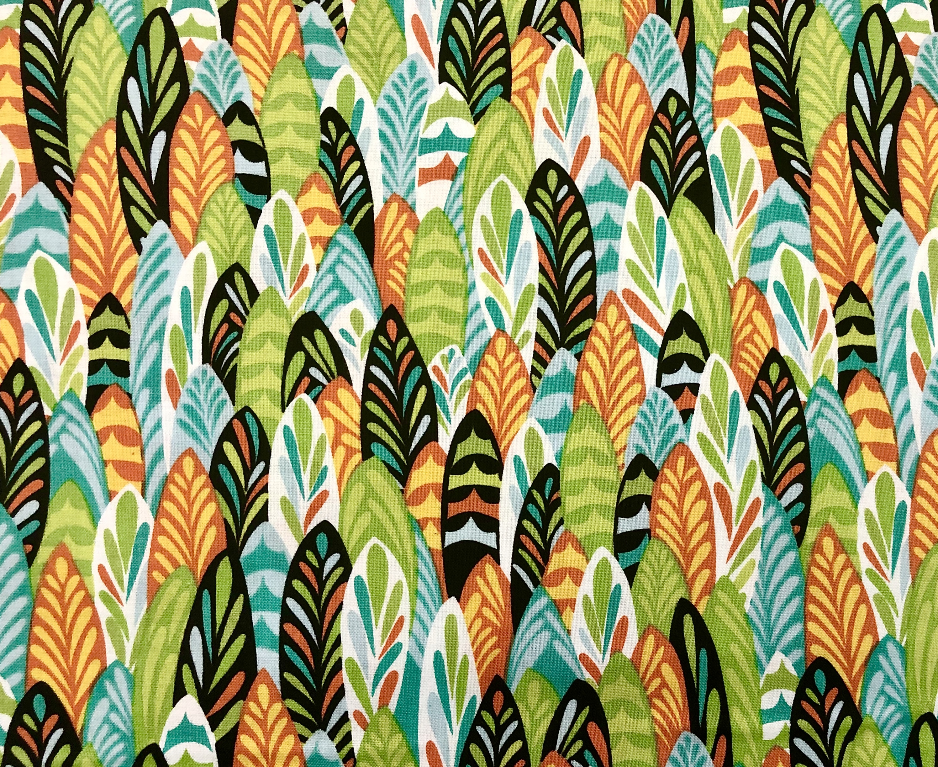 Feathers & Foliage - Wilmington Fabrics - 1/2m cut 55449