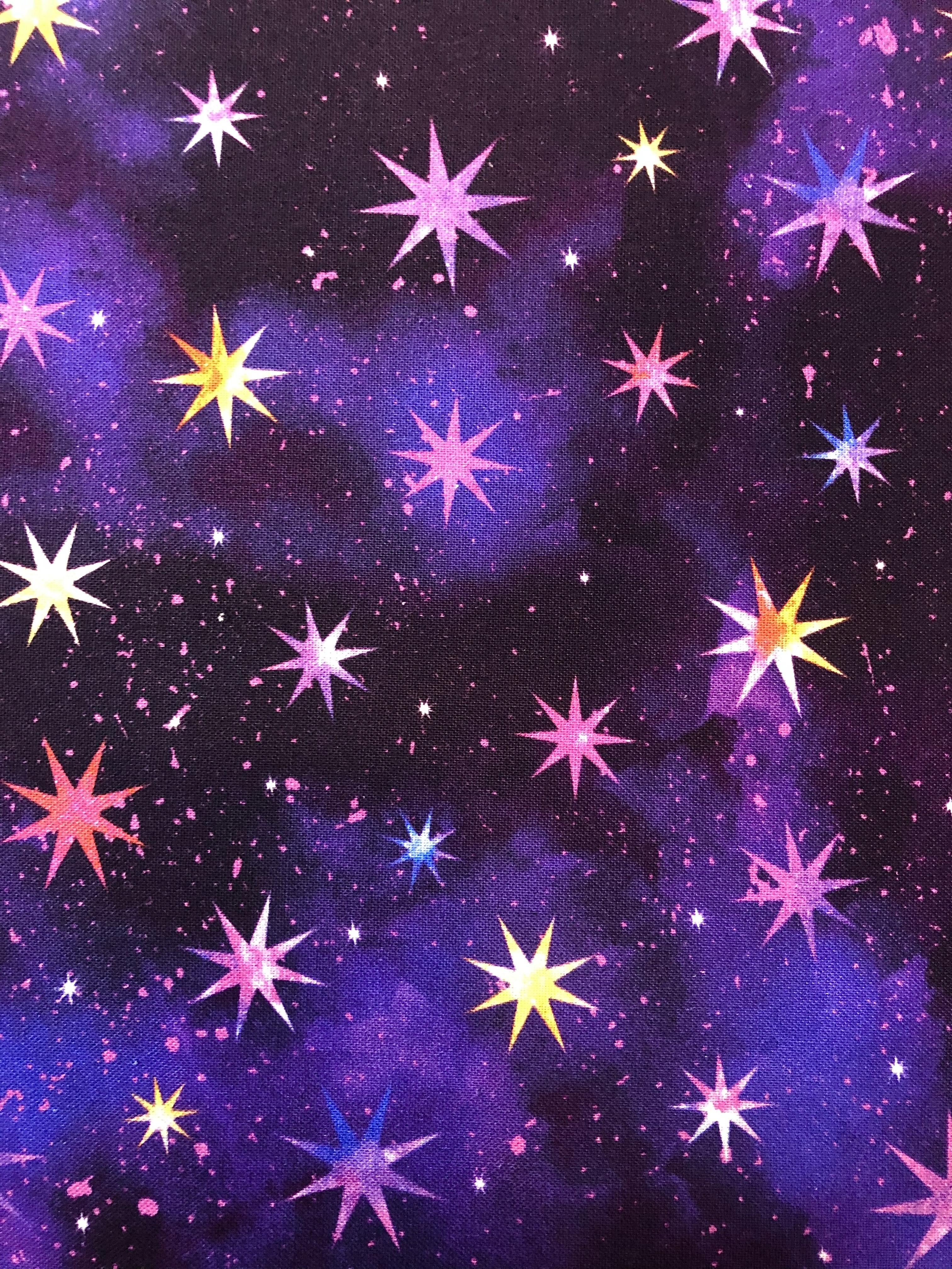 Cosmic Universe - Purple Stars - 1/2m cut 55455