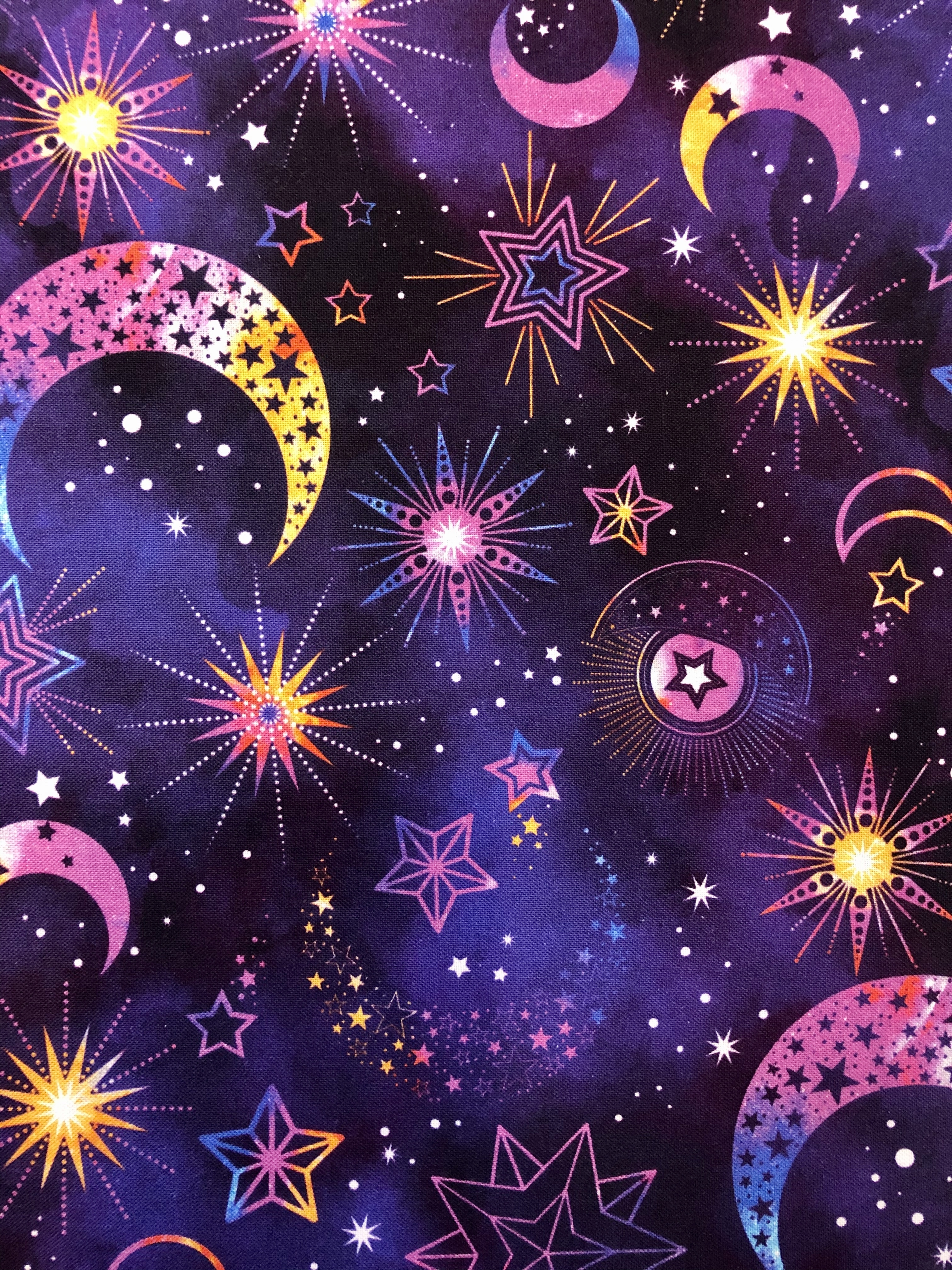 Cosmic Universe - Purple Allover - 1/2m cut 55456