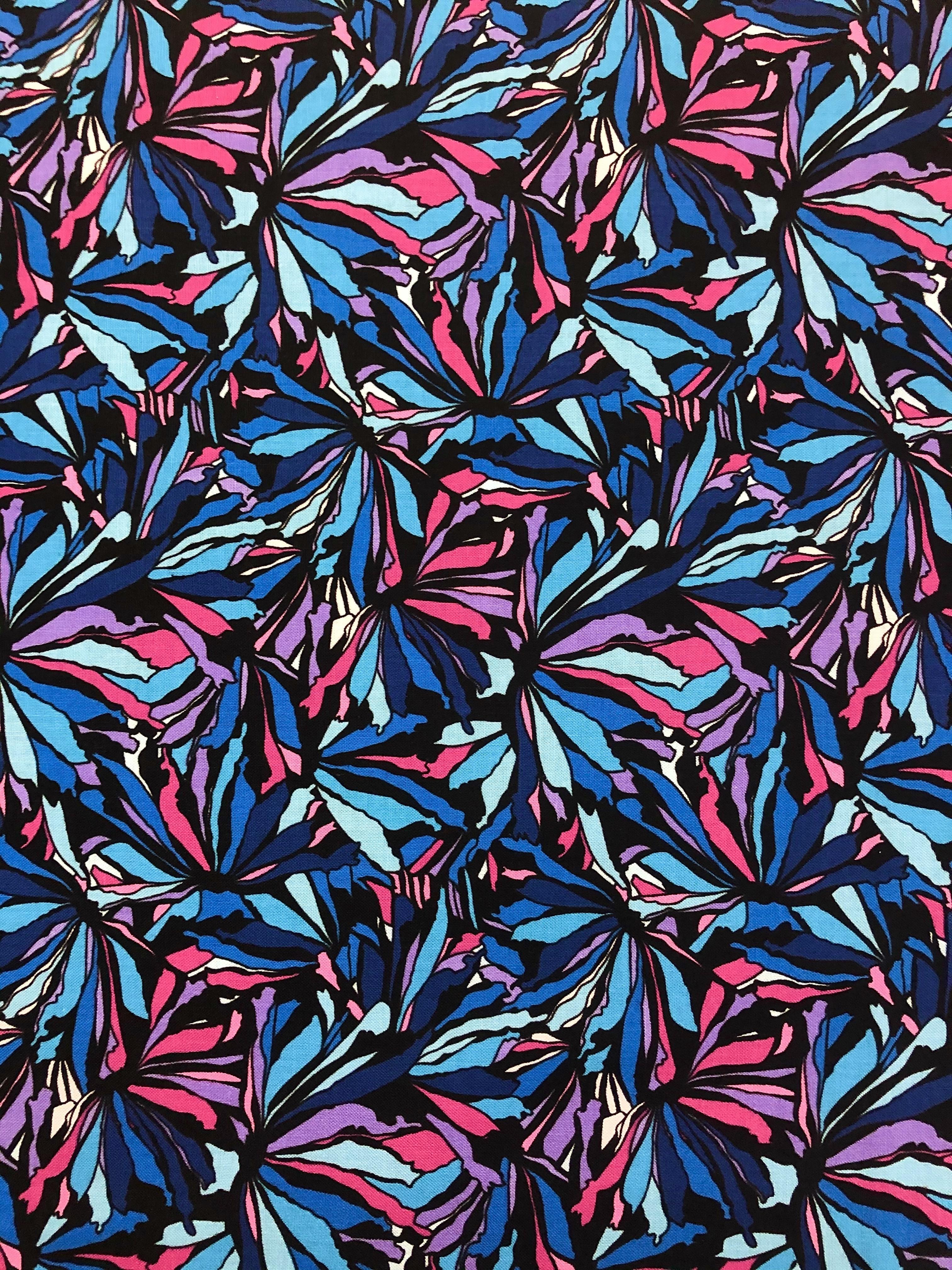Midnight Poppies - 1/2m cut 55464