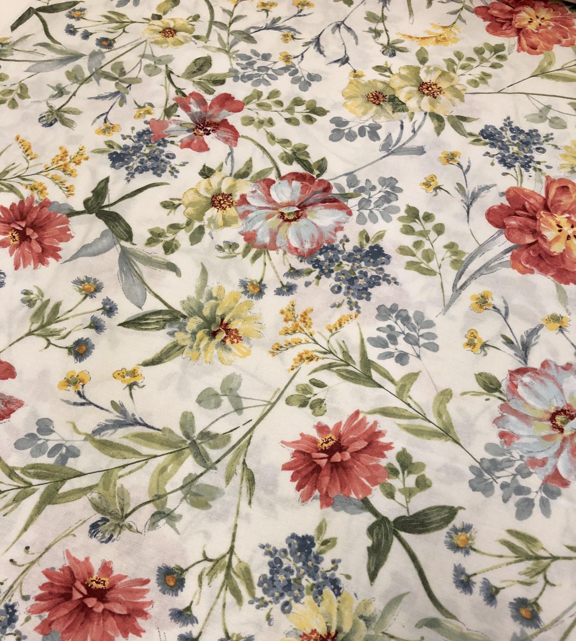 Sketchbook Garden - Cream Floral - 1/2m Cut 55492