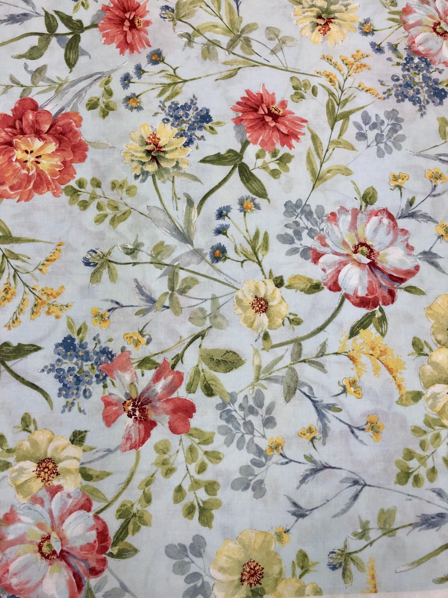 Sketchbook Garden - Blue Floral - 1/2m Cut 55493