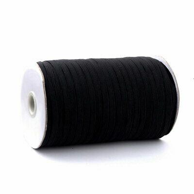 "Roll of 1/4"" Elastic - Black - 92.3 m 55497"
