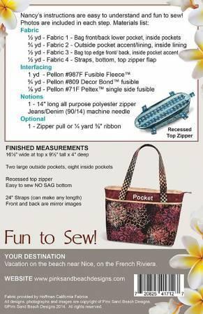 Riviera Tote Bag Pattern