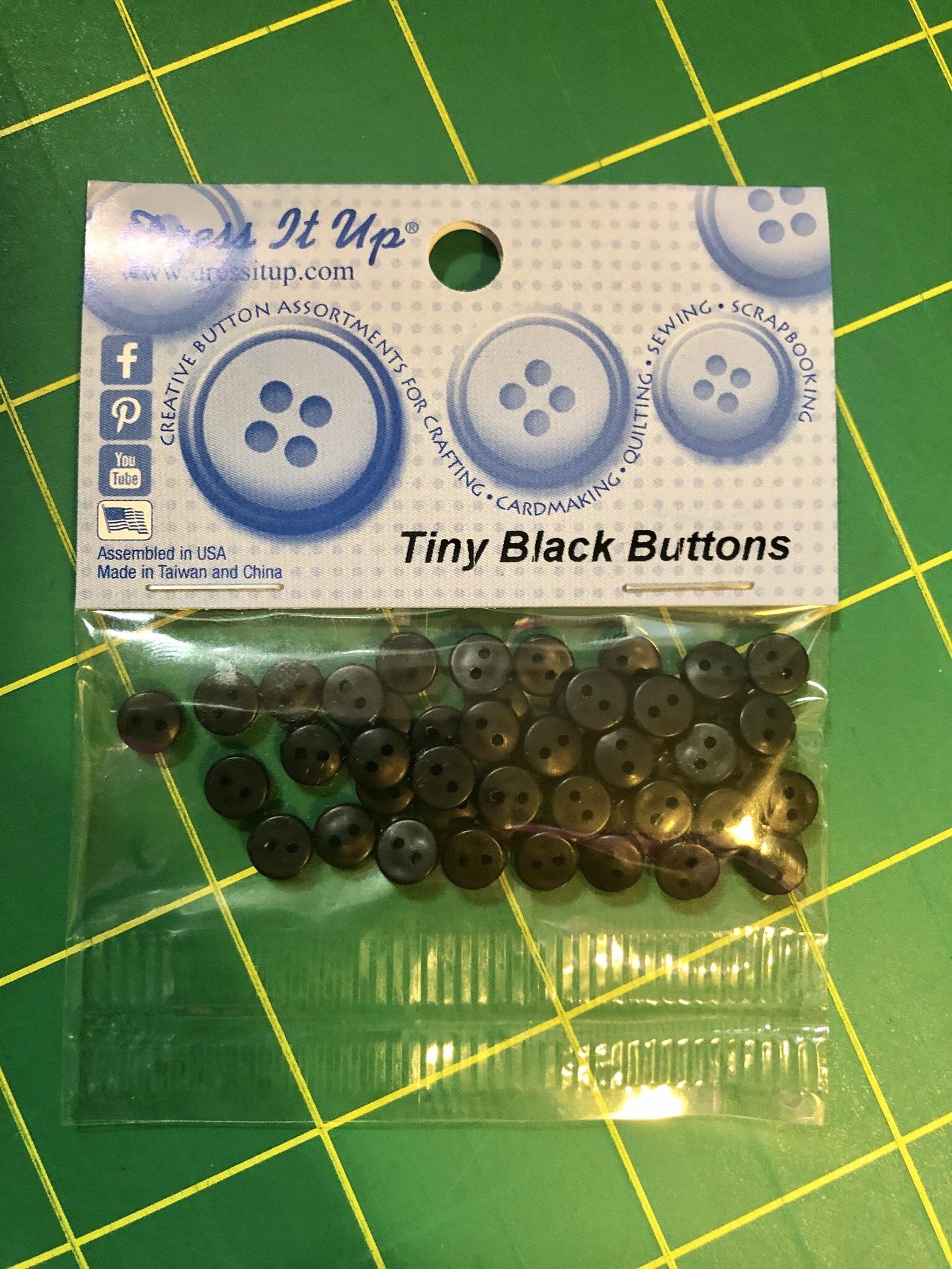 Tiny Black Buttons 55730