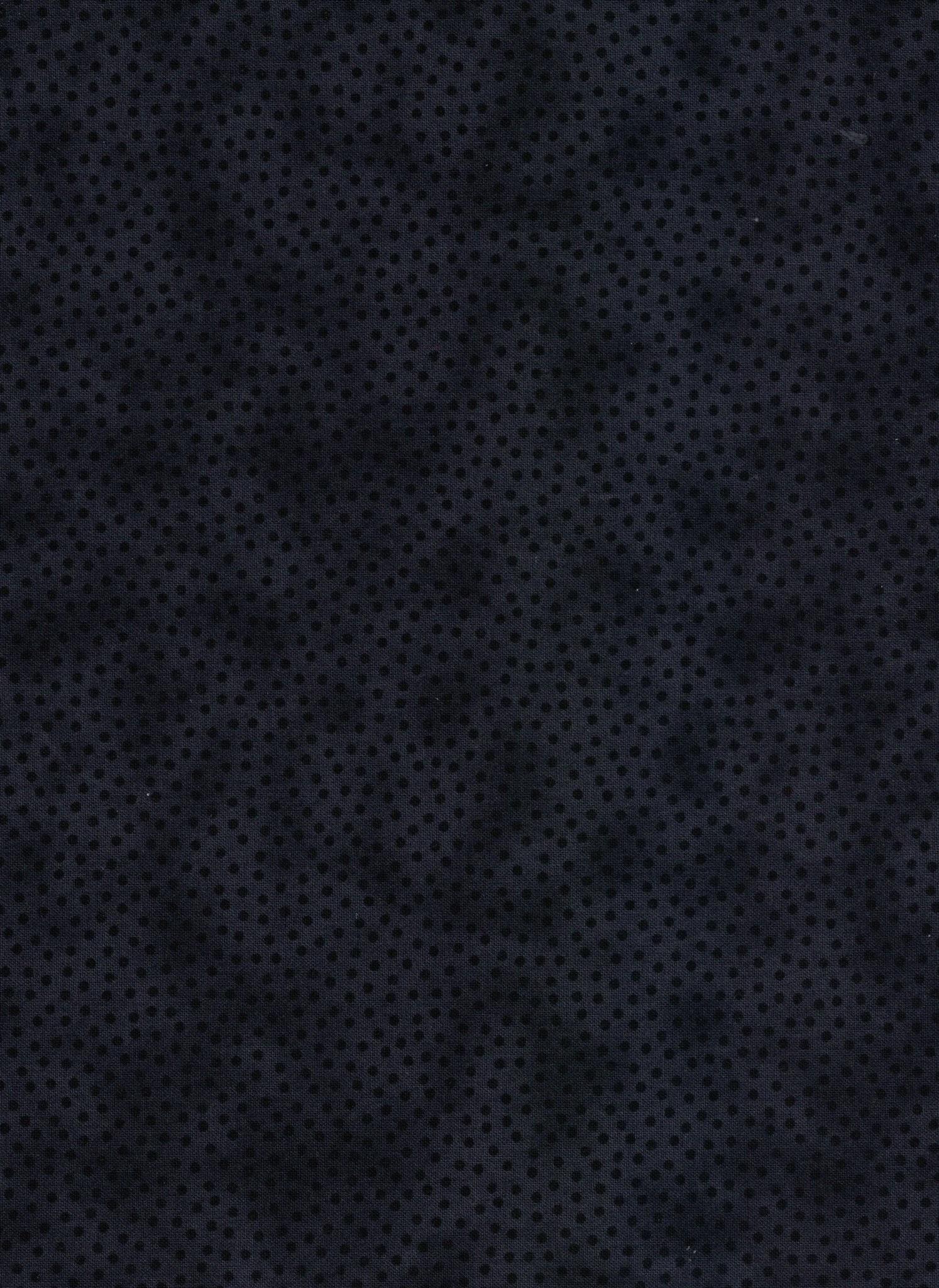 Polka Dot Blender - Black - 1/2m Cut 55769